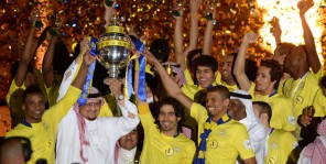 Al Nassr Team celebrations in HRH house after the crowning
